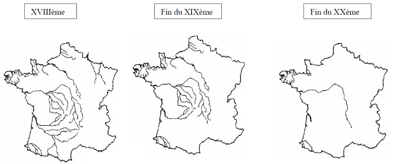 carte répartition saumon France