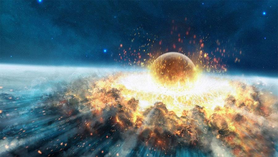 collison Terre Asteroide