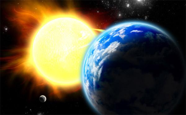 de la terre au soleil