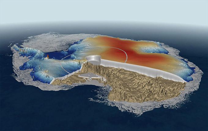 Les glaciers côtiers de l'Antarctique plus minces