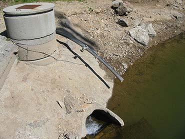 Système de pompage d'eau pour des canons à neige en Auvergne crédit : © C. Magdelaine - notre-planete.info