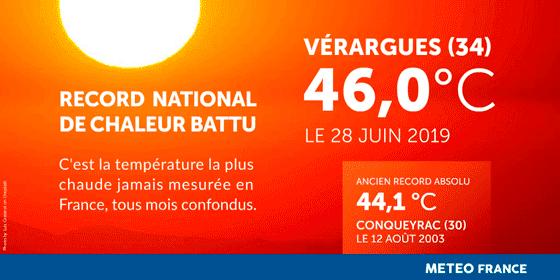 Réchauffement climatique ... Record-chaleur-France-46-degres