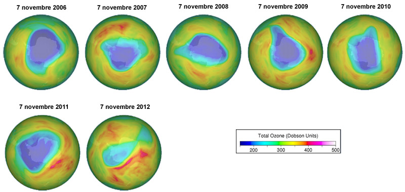 trou ozone 2006-2012