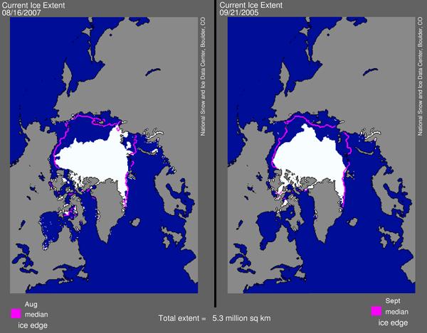 Nouveau record pour la fonte de la banquise en Arctique