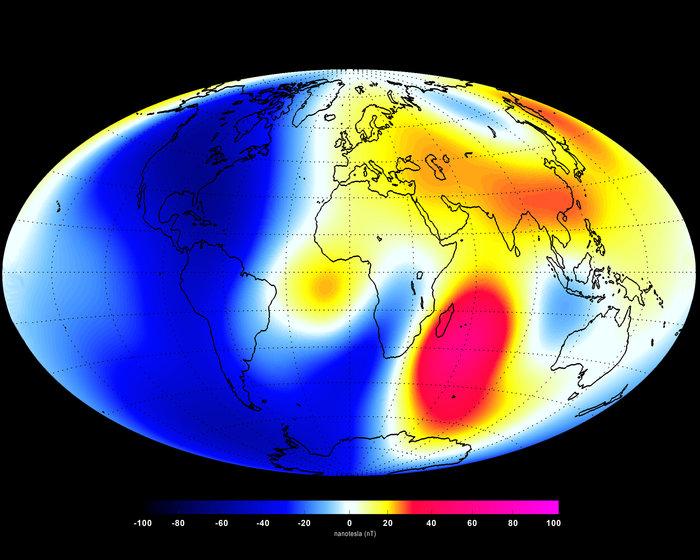 champ magnétique terrestre 2014