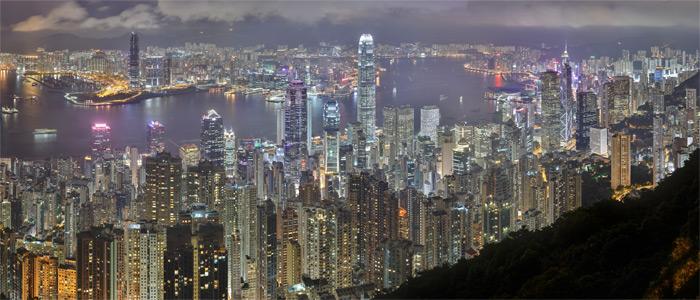 Hong-Kong ville la plus lumineuse