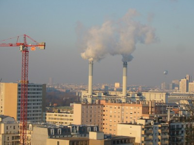 usine d'incinération en milieu urbain