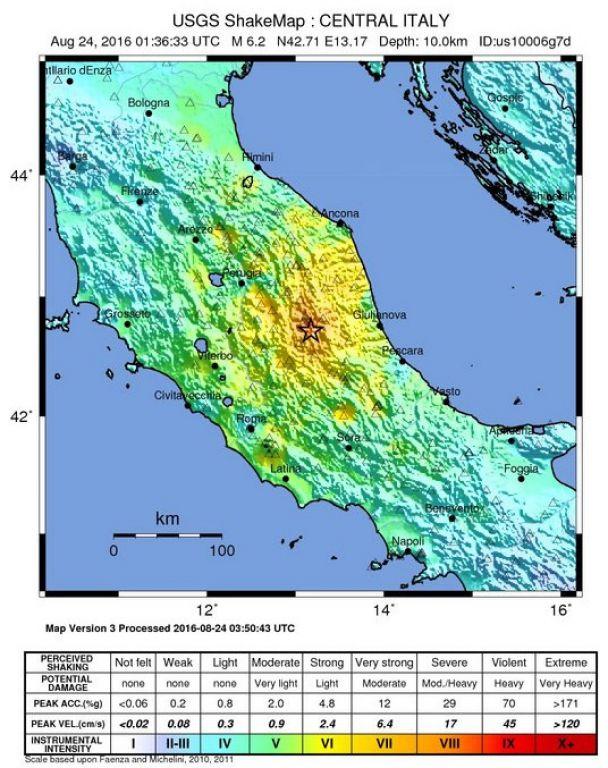 Le centre de l'Italie frappé par de forts séismes   notre planete.info