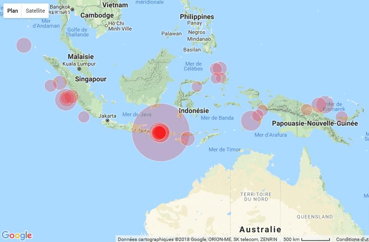 Un Fort Seisme Frappe Lile De Lombok En Indonesie