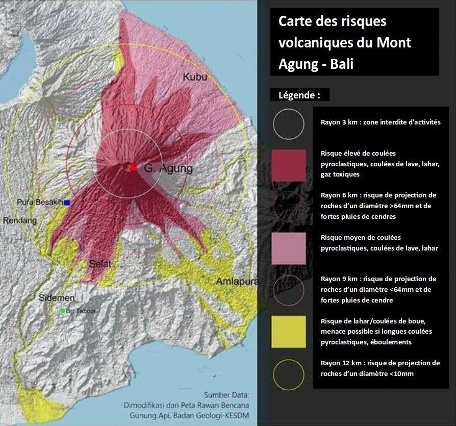 Carte Bali Volcan.Le Volcan Indonesien Agung Ile De Bali Se Reveille Notre