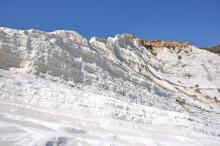 Falaise de calcaire et d'argile - Scala dei Turchi