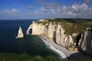La falaise d'Aval : l'Arche et l'Aiguille