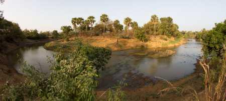 Rivière Pendjari en saison sèche