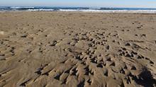 Effet du vent sur le sable